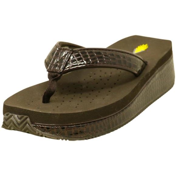VOLATILE brown sandal flip flop shoes Sz 8